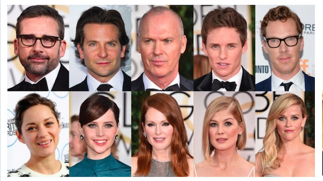 Best Actor and Best Actress Oscar nominees 2015