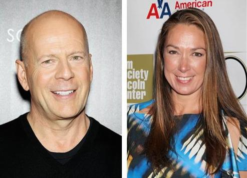 Bruce Willis and Elizabeth Marvel