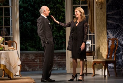 Larry David and Rita Wilson
