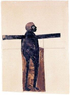 11. Black Jesus by Bill Traylor (ca 1939-1942)
