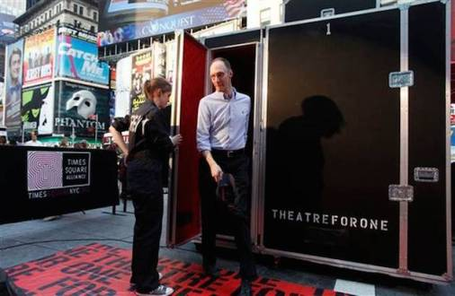 Theatre for One in Times Square in 2011