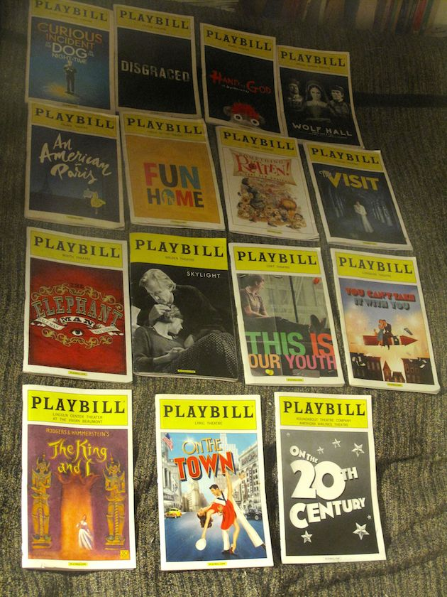 All 15 Playbills from the first four categories
