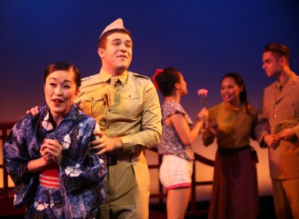 Sayonara 4 Natsuko Hirano is Katsumi Edward Tolve is Joe Kelly in SAYONARA photo by John Quincy Lee