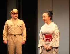 Sayonara 9a Justin Holcomb is Col Craford, Ako is Teruko-San in Pan Asian's production of SAYONARA photo credit by John Quincy Lee
