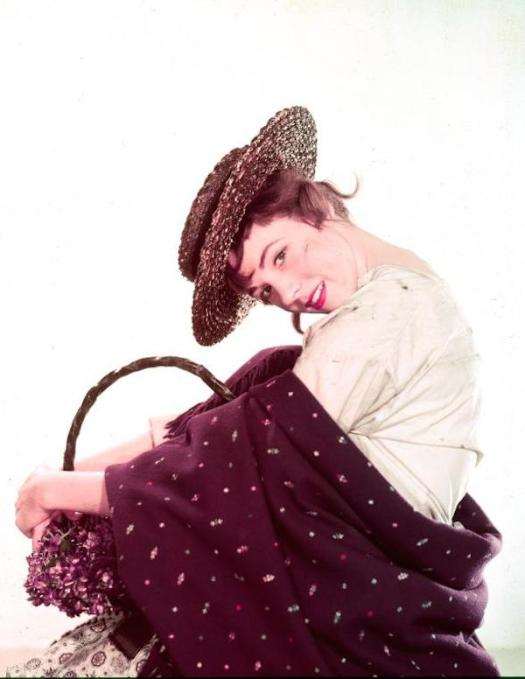 Julie Andrews as Eliza in the first Broadway production of My Fair Lady, 1956