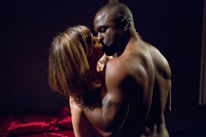 Susannah Flood and Gbenga Akinnagbe