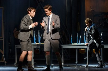 Daniel N. Durant as Moritz, Austin P. McKenzie as Melchior, and Alex Boniello as the voice of Moritz