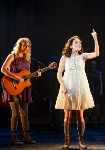 """Katie Boeck as the voice of Wendla, and Sandra Mae Frank as Wendla in """"Mama Who Bore Me"""""""