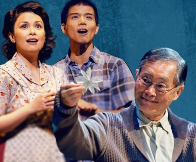 Lea Solanga, Telly Leung, George Takei in Allegiance