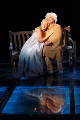 "Theresa McCarthy as Robin Bush and Marty Testa as Barbara Bush in ""In The Deep Bosom of the Ocean Buried"" in First Daughter Suite"