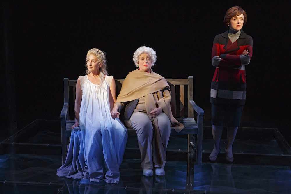 In an often-satirical First Daughter Suite, there is a touching moment when Marty Testa as Barbara Bush opens up to Rachel Bay Jones as her daughter-in-law Laura Bush about her daughter Robin (Theresa McCarthy) who died as a child, but to whom she speaks as if she were still alive and grown into adulthood.
