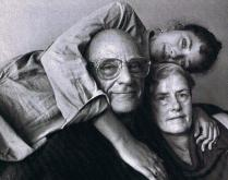 Rebecca-Miller-with-Arthur-Miller and Inge Morath