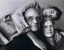 Rebecca-Miller-with-Arthur-Miller and Inge Morath