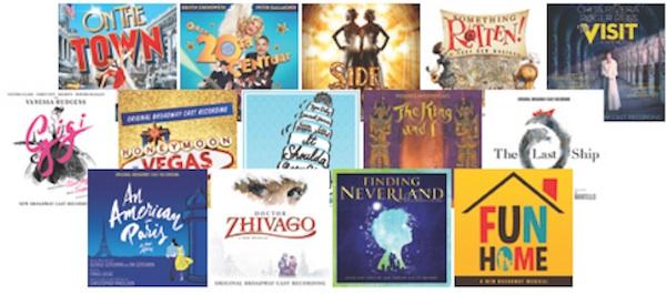 Broadway cast albums 2014-15 season