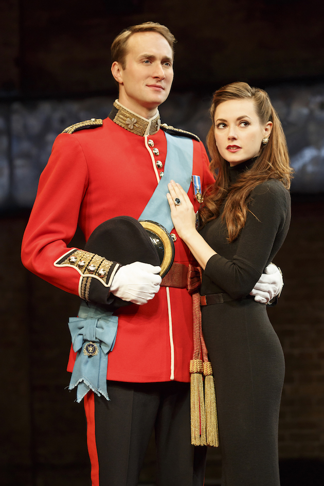 Oliver Chris as Prince William and Lydia Wilson as his wife Kate Middleton