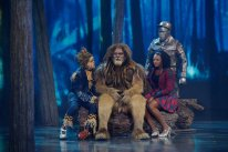 THE WIZ LIVE! -- Pictured: (l-r) Elijah Kelley as Scarecrow, David Alan Grier as Lion, Shanice Williams as Dorothy, Ne-Yo as Tin-Man -- (Photo by: Virginia Sherwood/NBC)