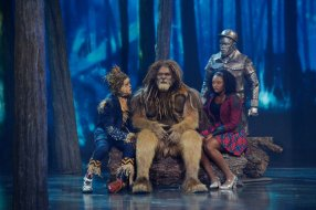 THE WIZ LIVE! -- Pictured: (l-r) Elijah Kelley as Scarecrow, David Alan Grier as Lion, Shanice Williams as Dorothy, Ne-Yo as Tin-Man -- (Photo by: Virginia Sherwood/NBC)