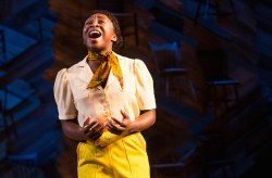 "After a lifetime of being told, and believing, that she's ugly, Celie as performed by Cynthia Erico sings out I'm beautiful, yes I'm beautiful, and I'm here"" – which provokes the audience to rise up, tear up and cheer."
