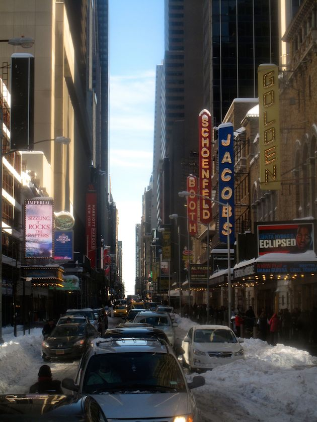 45th Street before January 24, 2016 Sunday matinees.