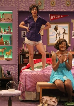 Grease: Vanessa Hudgens as Rizzo and Keke Palmer as Marty in Frenchy's bedroom