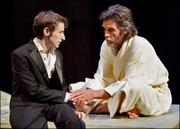 "Noah Robbins as Andy and John Glover as Martin in the Primary Stages production of ""Secrets of the Trade"" by Jonathan Tolins, 2010"