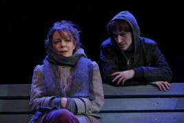 Noah Robbins with Dierde O'Connell in Hamish Linklater's The Vandal, at the Flea, 2013, broadcast on WNET, 2014