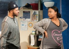Skeleton Crew, Off Broadway, with Jason Dirden and Nikiya Mathis