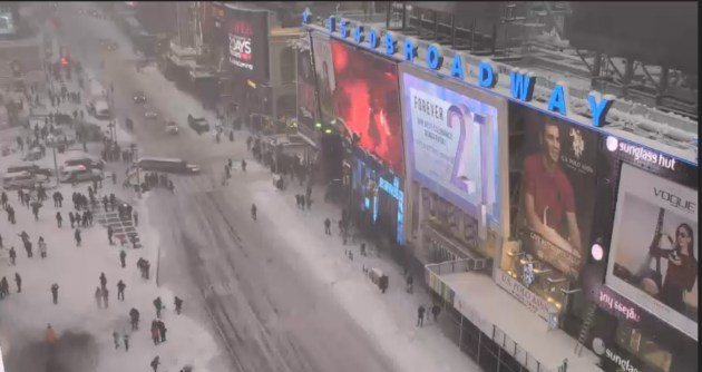 Times Square, January 23, 2016 at 1:30 p.m. Click to see enlarged.