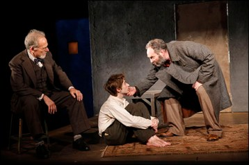 Ron Rifkin, Noah Robbins, and Daniel Oreskes in The Twenty-Seventh Man, written by Nathan Englander, The Public Theater, 2012