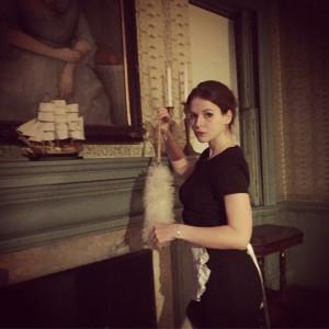 Sandra Glinka as Regina Engstrand in The Alving Estate