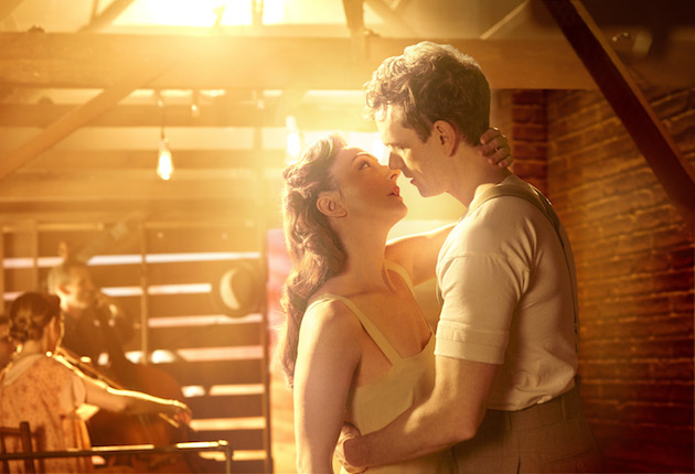 Carmen Cusack and Paul Alexander Nolan in Bright Star on Broadway.