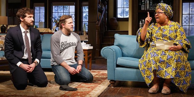 Joby Earle, Joe Tippett, Myra Lucretia Taylor in Danai Gurira's Familiar