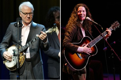 Steve Martin and Edie Brickell, creators of Bright Star