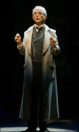 Joel Grey originating the part of the Wizard in Wicked, 2003