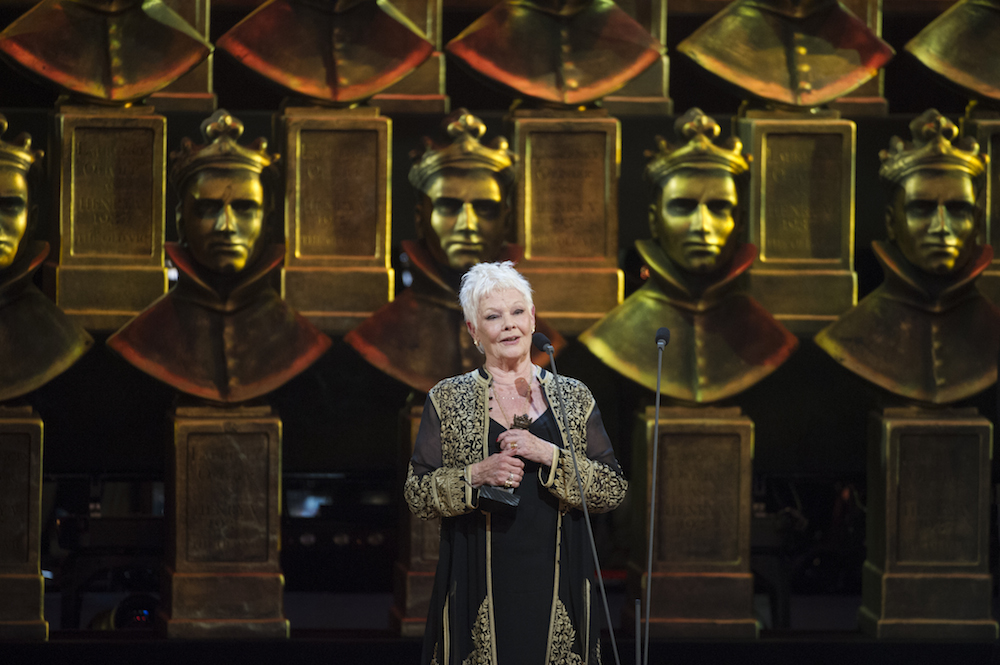 Dame Judi Dench accepting her Olivier for The Winter's Tale