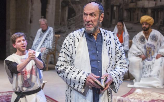 l-r: Stark Sands and John Christopher Jones as Christians, F. Murray Abraham as a Jews, Shiva Kalaisel Van and Austin Durant as Muslims.