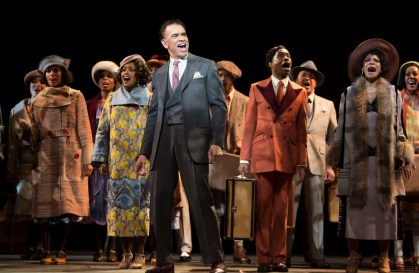 Brian Stokes Mitchell, with Adrienne Warren (fourth from left), Billy Porter, Audra McDonald and ensemble in Shuffle Along, or The Making of the Musical Sensation of 1921 and All That Followed,