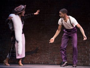 Audra McDonald as Lottie Gee and Curtis Holland as Li'l Baby C in Shuffle Along, or the Making of the Musical Sensation of 1921 and All That Followed,