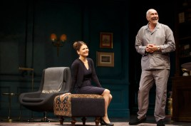 Kathryn Erbe as Anne and Frank Langella as her father Andre in The Father