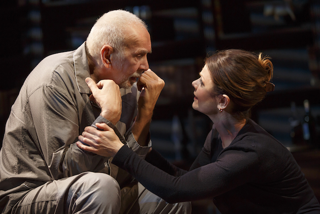 Frank Langella and Kathryn Erbe