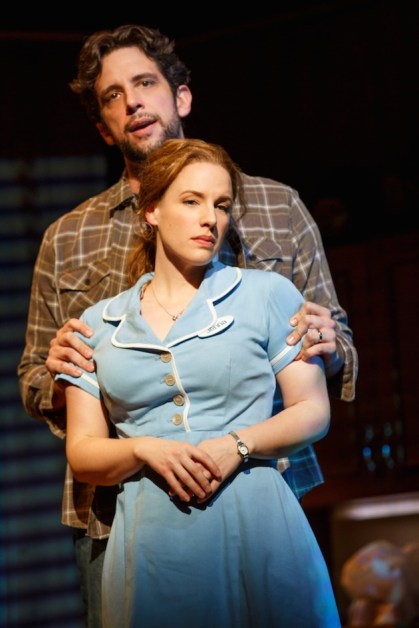 Nick Cordero as Earl and Jessie Mueller as Jenna, in a loveless marriage, but he doesn't know that.
