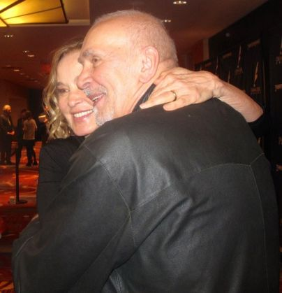 Jessica Lange (Long Day's Journey Into Night) with Frank Langella (The Father) photograph by Jonathan Mandell