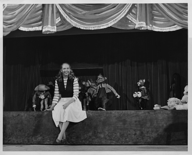 Barbara Cook with the Bil Baird Marionettes in Flahooley, 1951, her first Broadway show.