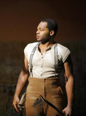 "Actor Brandon Victor Dixon in his Tony Award nominated role of Harpo in ""The Color Purple,"""