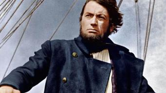 Gregory Peck in the movie of Moby Dick
