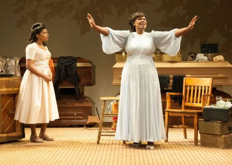 Rebecca Naomi Jones as Marie Knight and Kecia Lewis as Sister Rosetta Tharpe