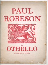 Program in 1930 for Paul Robeson in Othello