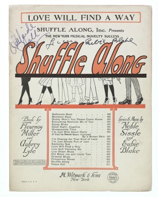 Sheet music for the 1921 musical Shuffle Along