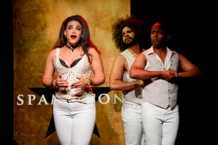 Nora Schell, Nicholas Edwards and Juwan Crawley in Spamilton