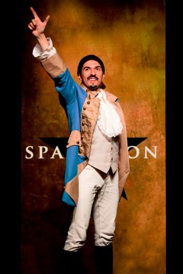 "Dan Rosales as Hamilton/Lin-Manuel Mirand in ""Spamilton"""